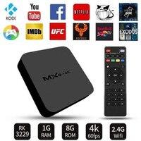 AKASO MXQ 4K Android 7.1 TV Box RK3229 1GB+8GB Smart TV BOX Quad Core Media Player Wifi MXQ 4K Set Top Android Box PK MXQ PRO T9
