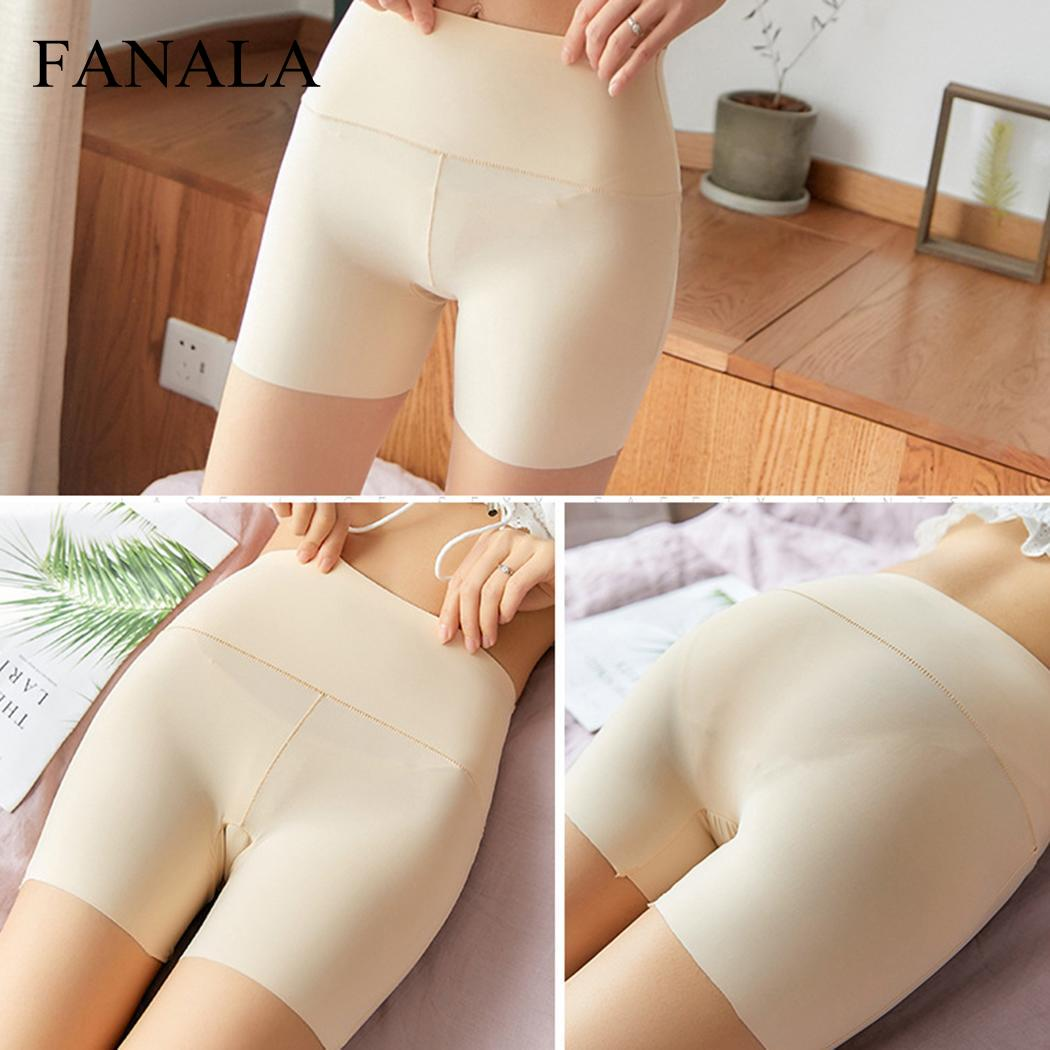 Women Casual Solid Seamless Elastic High All Seasons Waist Short   Leggings   Black Nude White Summer   Leggings   Short Trousers