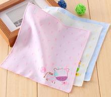 5pcs/lot 22CM White Cotton Silk Handkerchief Tea Towels Women Bandana Lace Dinner Gift Childrens pattern