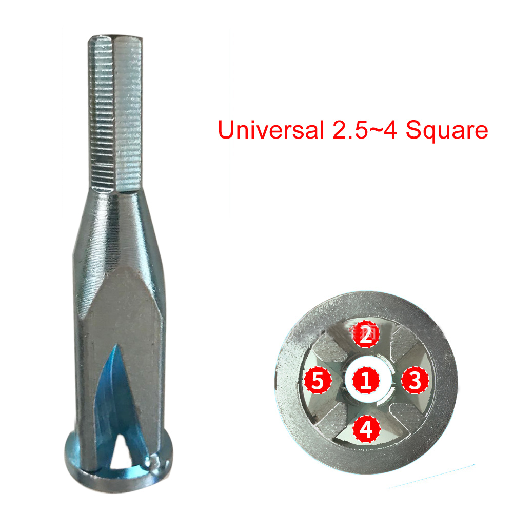 2.5~4 Square Universal Quick Wiring Cable Connector Wire Twisting Tool Stripper For Electrical Power Hand Drill