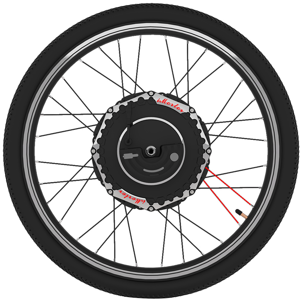 YUNZHILUN 24V X iMortor 2.0 700C Smart Electric Front Bicycle Wheel 350W motor 6.4Ah Li ion battery Bluetooth 4.0 for Bicycle
