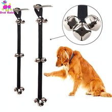 Dog Training Doorbell Adjustable Hanging Pet Leaving Alarm Bells Mascotas Supplies Black For Small Medium Large Dogs