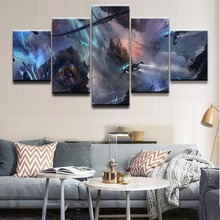 Modern Canvas Wall Art Painting Modular Picture Frame Home Decor 5 Pieces Landscape Game Star Citizen Poster Oil