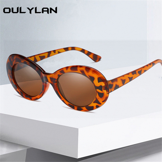0c33dc7680 Oulylan Clout Goggle Sexy Vintage Sunglasses Women Small Round Red Pink Kurt  Cobain Glasses UV400 Eyeglasses