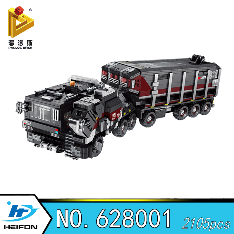 The Wandering Earth Truck carrier vehicle loader Military Series Building Blocks Bricks Compatible Model toys Panlos