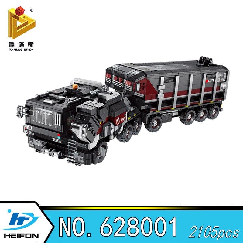 De Dwalen Aarde Truck carrier voertuig loader Militaire Serie Bouwstenen Bricks Compatibel Model speelgoed Panlos 628001-in Blokken van Speelgoed & Hobbies op  Groep 1