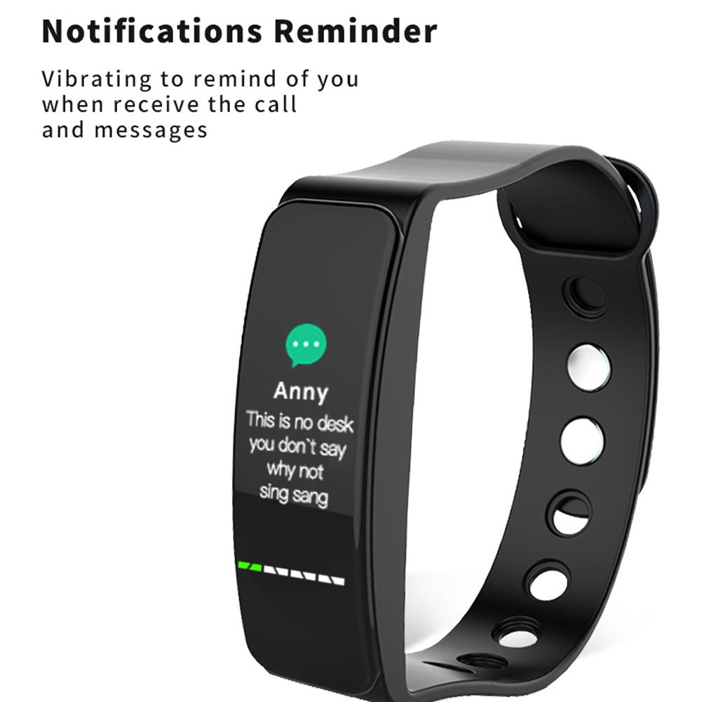 Image 4 - B4 Color Screen Sports Smart Bracelet Heart Rate Blood Pressure Sleep Monitoring Health Fitness Tracker Color Box Charging Cable-in Smart Wristbands from Consumer Electronics