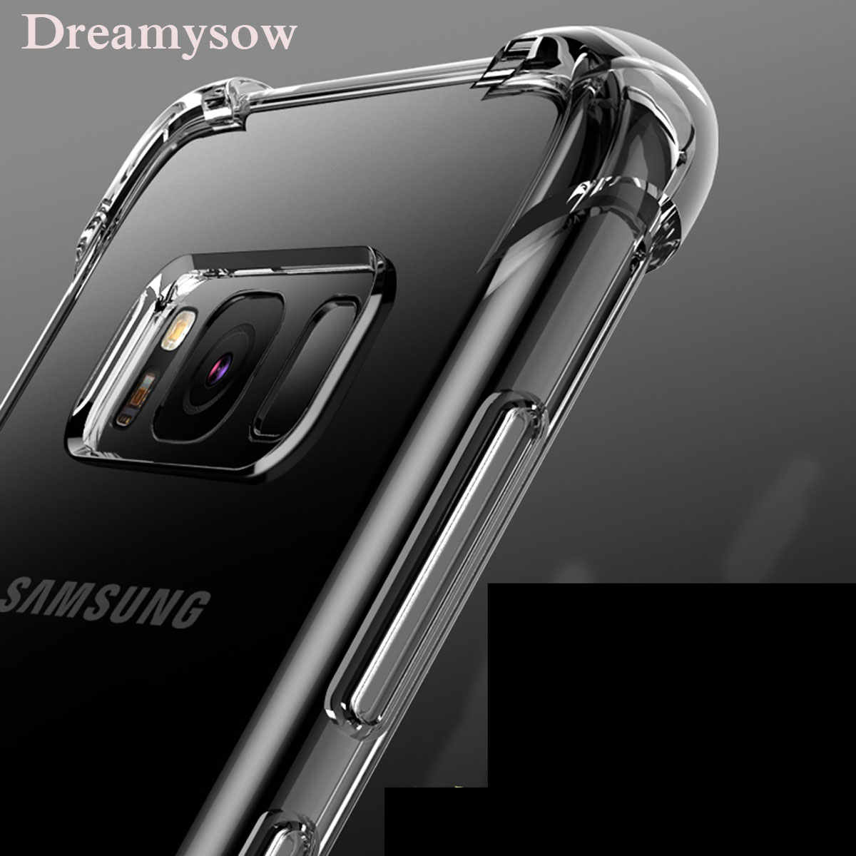 For Samsung Galaxy J2core/J260 J4 J6 J8 A6 2018 S9 S8 S7 S6 Edge Note 8 J7 J5 Prime A720 A520 Clear Soft TPU Protection Case