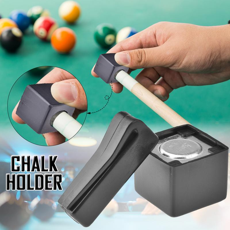 Pool Billiards Snooker Magnetic Cue Chalk Holder With Belt Clip Snooker Accessories Pool Cue Billiard Magnetic Chalk Holder