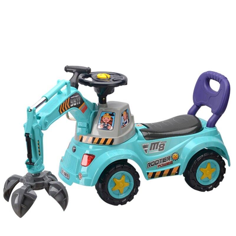 Grande voiture électrique bébé avec lumières musique bébé marcheur conducteurs voiture d'ingénierie pour les enfants monter sur des jouets enfants cadeau - 2