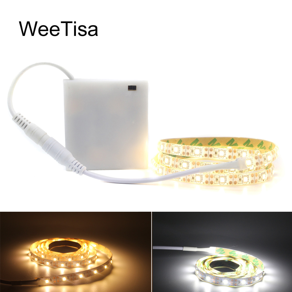 LED Strip Light Battery Operated Tria Waterproof 5V SMD 2835 Ambilight TV Fita LED Stripe Tape Ribbon For Computer PC Lighting