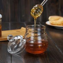250 мл стеклянный горшок для меда, прозрачный для варенья, Набор банок с ковшей и крышкой для использования на домашней кухне, аксессуары для дома