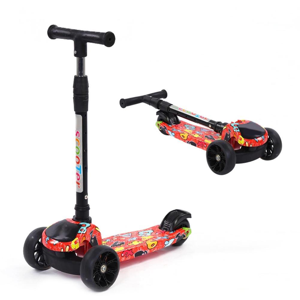 2019 enfants Scooters pliant multi-fonction réglable pour la hauteur en aluminium unisexe Kick alliage Scooter enfant jouet