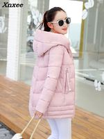 New Light Warm Thin Hooded Plus Size Long Down Women Winter Coat Jacket 2018 Clothing for Mujer Overcoat Slim Solid Jacket