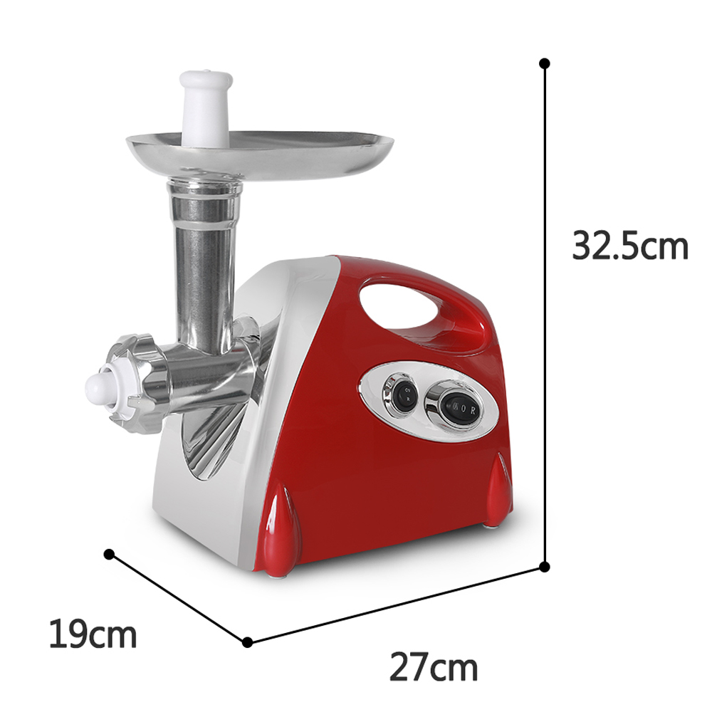 ITOP Electric Meat Grinder & Sausage Stuffer Household Mincing Machine 3 Cutting Plates 2KG/Min Kitchen Chopper Food Processors