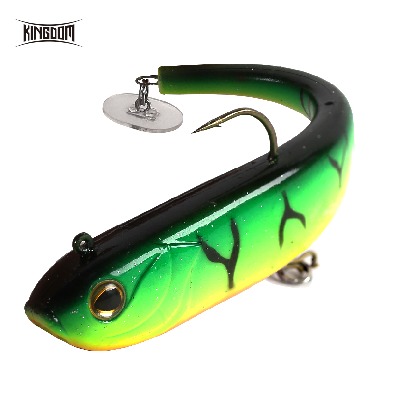 Kingdom Hot Fishing <font><b>Lures</b></font> Soft <font><b>Lure</b></font> <font><b>150mm</b></font> 47g wobblers With Plastic Plate On Tail Sinking Action PVC Material Artificial Baits image