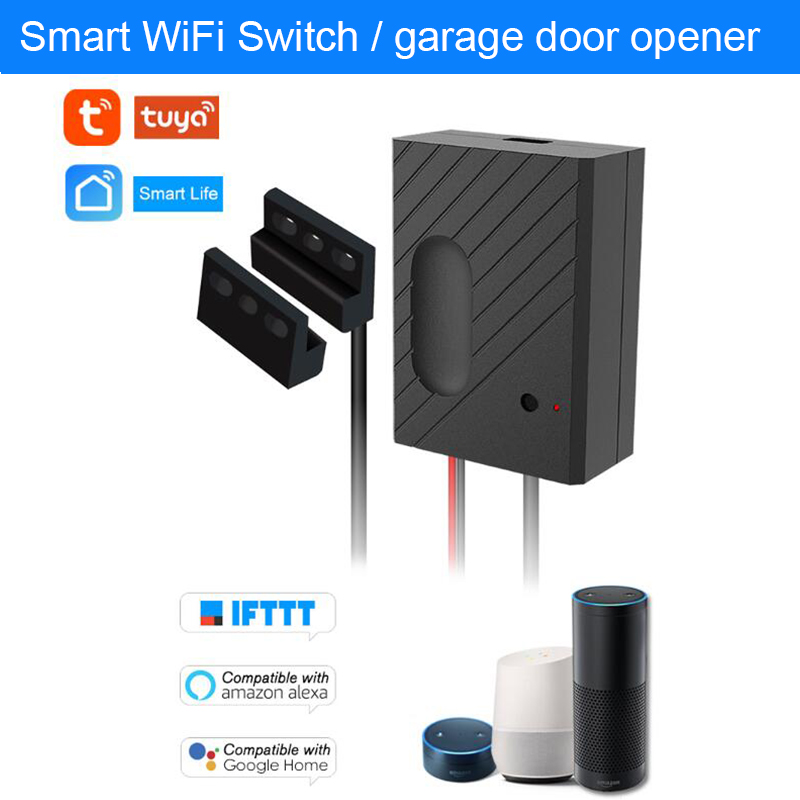 WiFi Smart Switch Garage Door Opener controller monitor Phone Remote Control Timing function work with Alexa