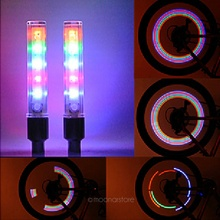 2pcs/lot Bike Bicycle Cycling Car Tyre Wheel Neon Firefly Spoke LED Light Lamp 5 Colorful for Night
