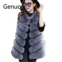 New Arrival Winter Warm Fashion Women Import Coat jacket Fur Vest High Grade Faux Fur Coat Faux Fur Long Vest S 4XL