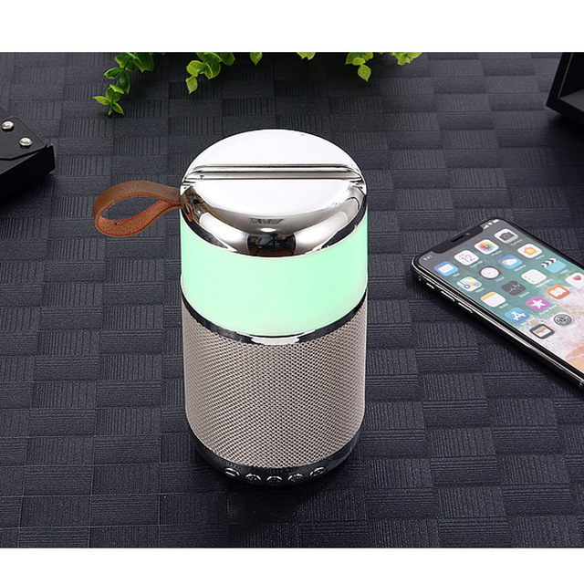 Cloth Bluetooth Speaker Colorful LED Wireless Bluetooth  Speaker