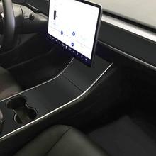 Виниловая переводная картинка для автомобиля Tesla модель 3 консоль обертывание центр приборной панели крышка матовая черная наклейка s