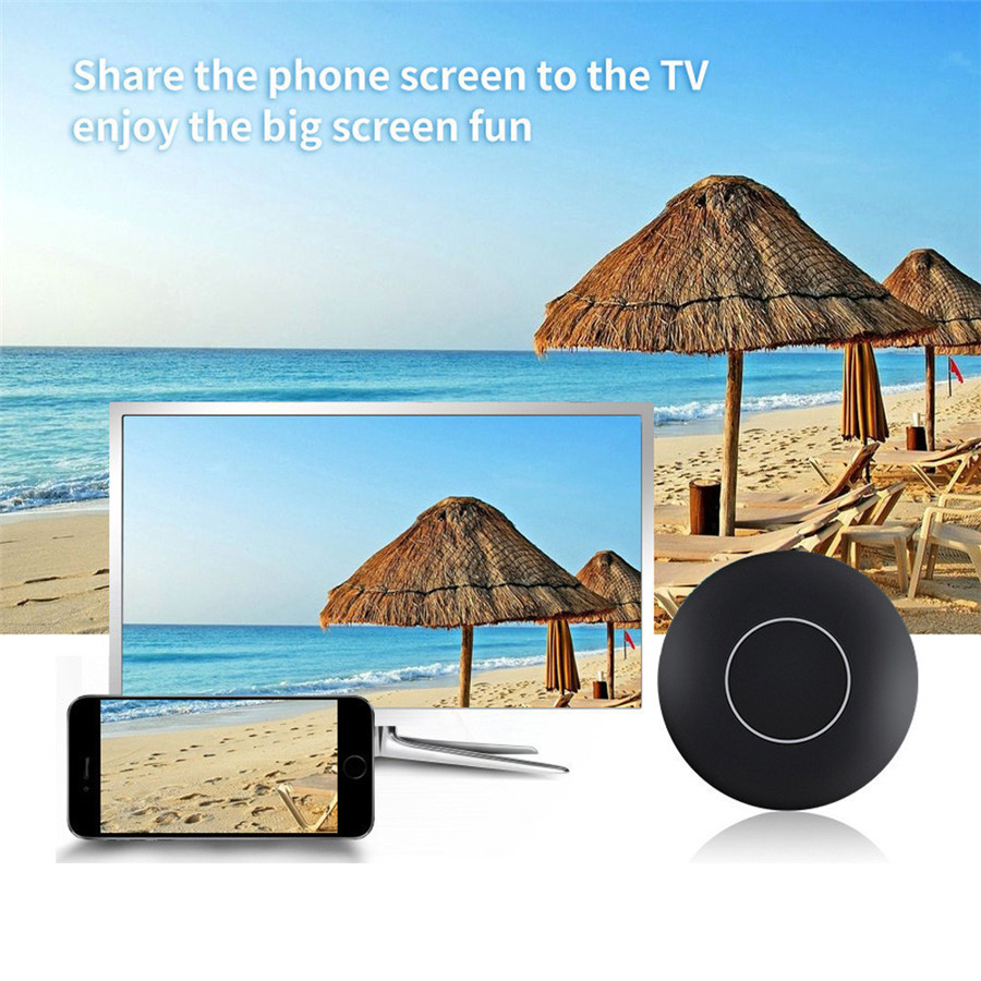 Wifi Screen Push Cast Display Car Auto Media Airplay Screen Mirroring for Android IOS Tablet PC AnyCast Wireless DLNA Airplay