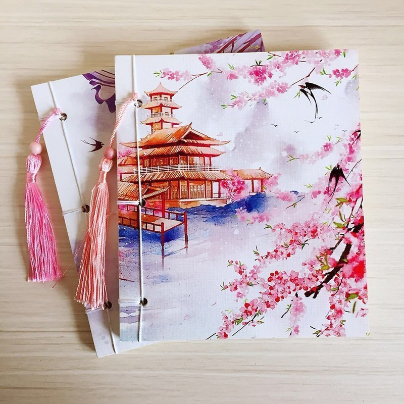 1 PC Chinese Style Vintage Notebook Sketchbooks Creative Students Diary Planner Notepad School Stationary Store Supplies 016038