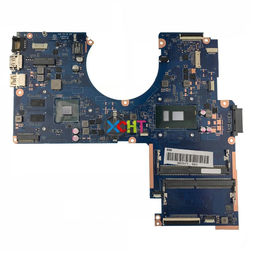 901577-601 901577-001 DAG34AMB6D0 w 940MX/2GB i7-7500U CPU for HP Pavilion Notebook 15-au Series PC Laptop Motherboard901577-601 901577-001 DAG34AMB6D0 w 940MX/2GB i7-7500U CPU for HP Pavilion Notebook 15-au Series PC Laptop Motherboard