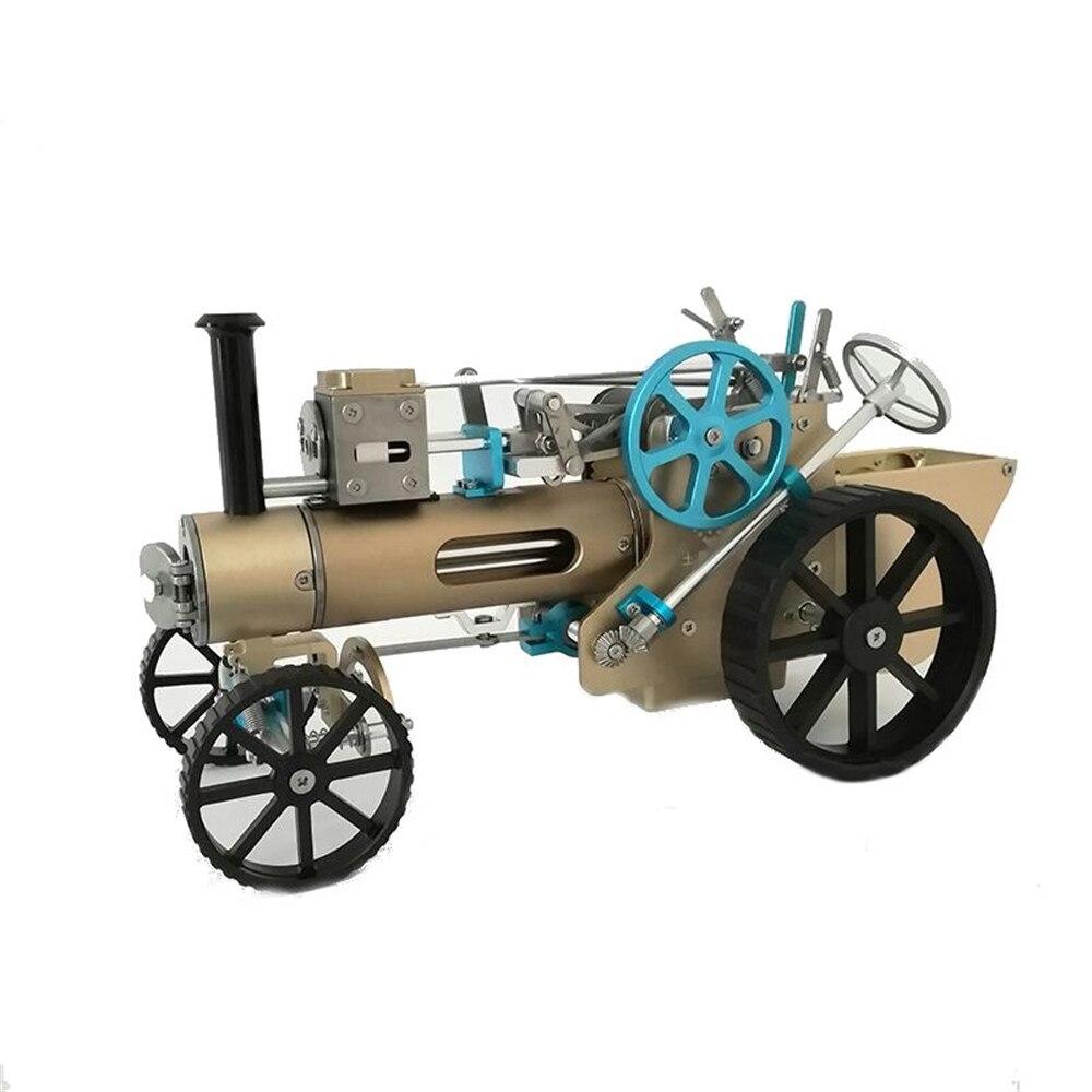 DM34 паровой автомобиль модель Stirling двигателя металлический модель Строительная Игрушка коллекция подарок украшения для взрослых и детей эк