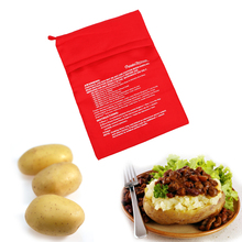 1Pcs Red Washable Cooker Bag Microwave Baking Potatoes Quick Fast Baked  Easy To Cook Kitchen Gadgets Tool