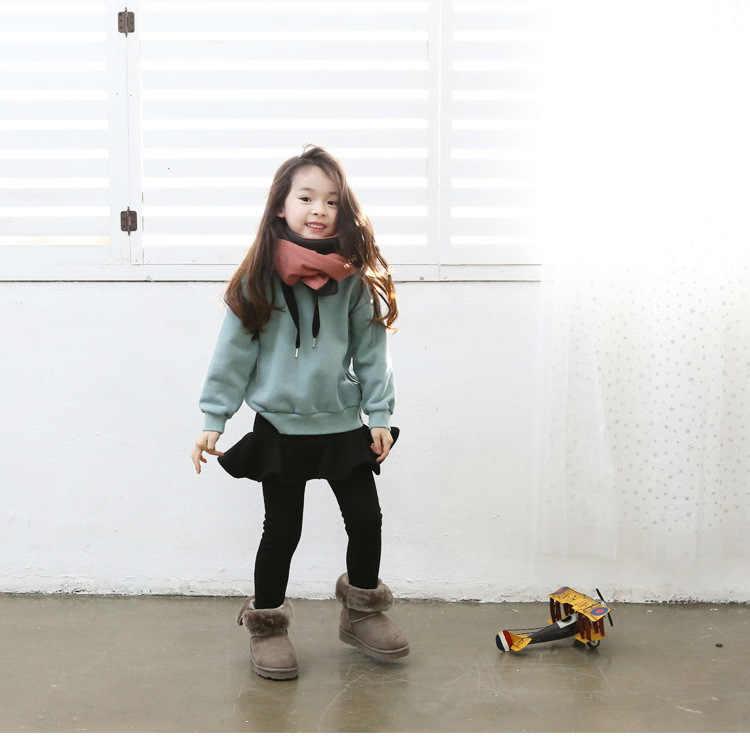 2019 di Colore Puro Delle Ragazze Pantaloni Dei Bambini Delle Ghette 2-10Y Dei Vestiti Dei Bambini di Autunno del Cotone Delle Ghette Del Bambino Caldo Della Ragazza del Pannello Esterno-Pants di Alta qualità