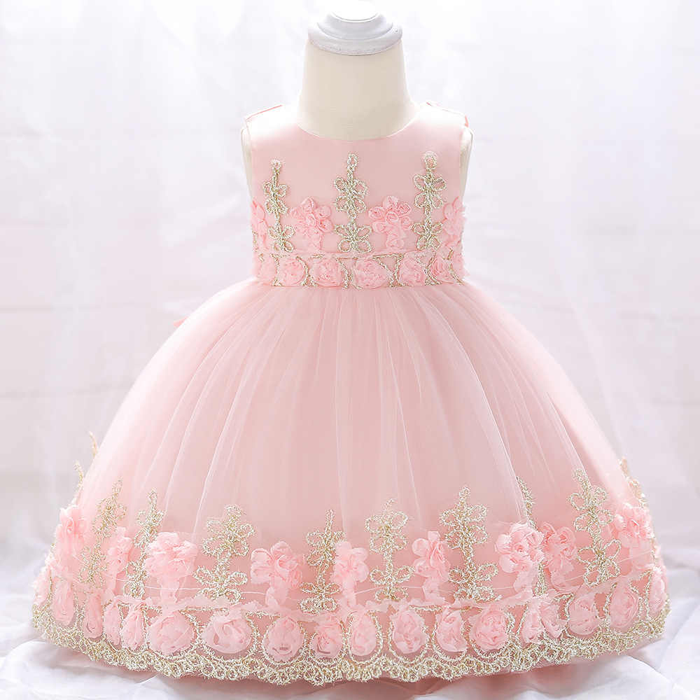 Baby Girl Dress 3 Months To 2 Years Old Birthday Party Princess Vestidos First