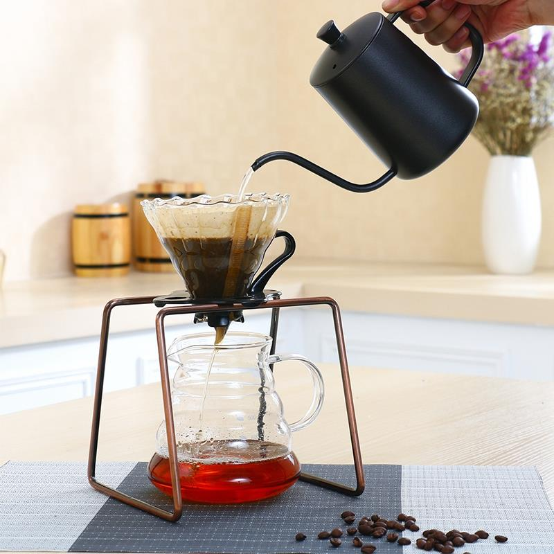 Drip Coffee For Filter Cup Holder Shelf Geometry Coffee Dripper Stand V60 Drip Metal Special Frame For Barista