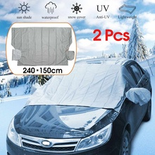 2 Pcs Car Auto Window Anti Snow Frost Ice Sunshade Cover Sun Reflective Shade Windshield For SUV And Ordinary Car