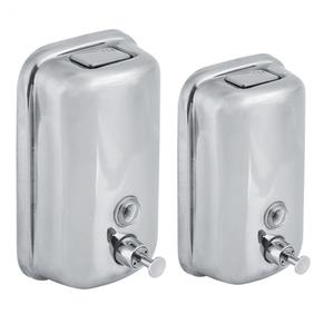Image 2 - 800/1000mL Stainless Steel Soap Dispenser Wall Mounted Liquid Shampoo Lotion Container Kitchen Bathroom Hand Sanitizer