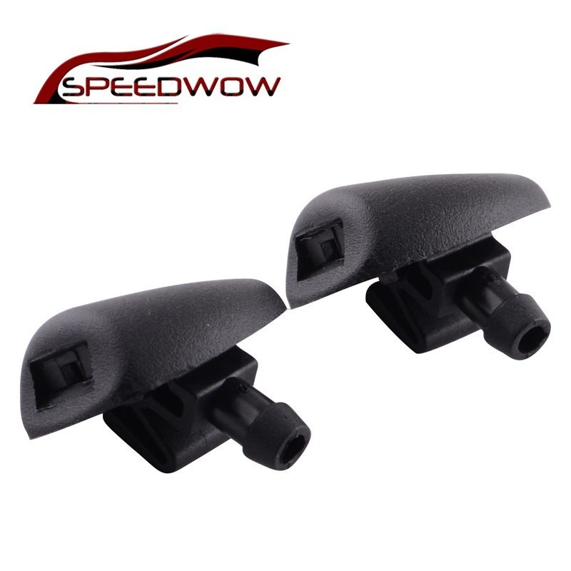 SPEEDWOW 2pcs/set Windscreen Window Wiper Water Washer Jets Nozzles Windshield Water Sprays For Peugeot 407 6438Z1 206 207 C2(China)