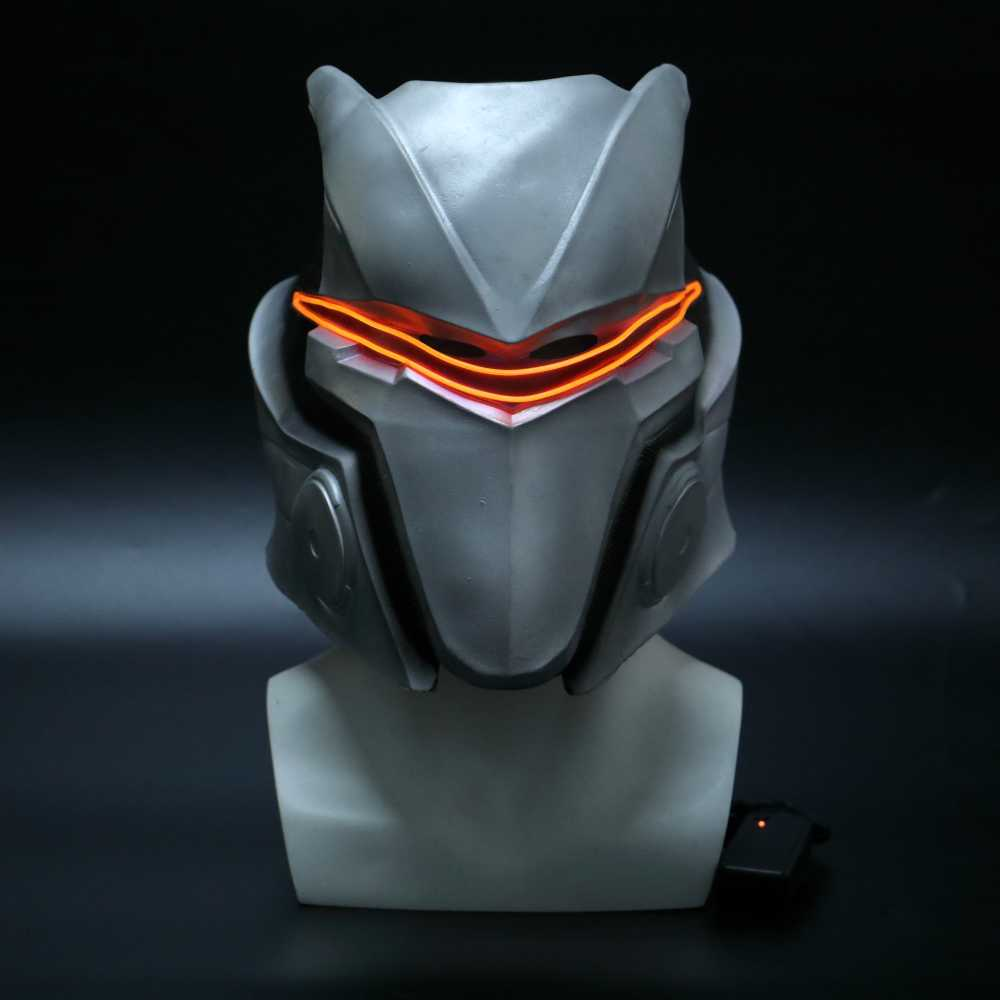 Permainan Fortniter Omega Masker dengan Lampu LED Drift Cosplay Lateks Helm Omega Pesta Halloween Dropshipping