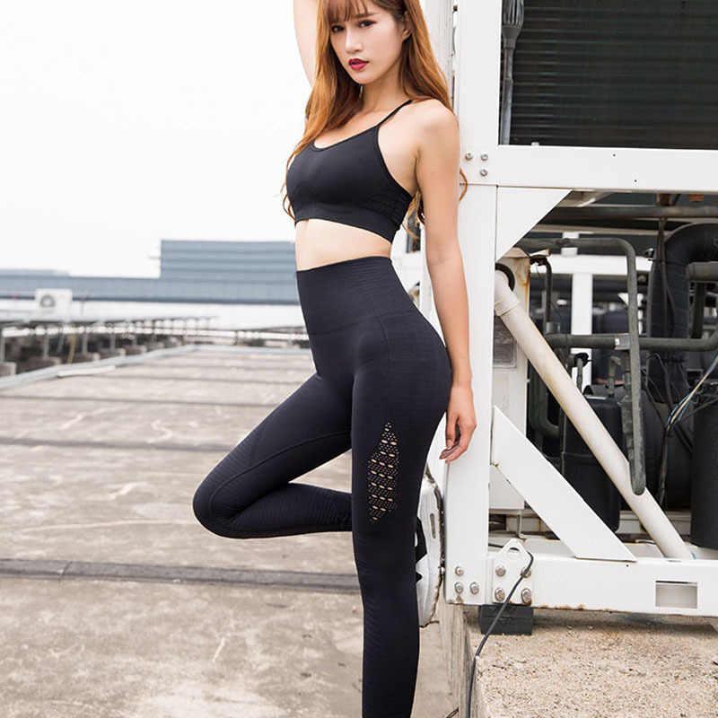 Женские штаны для занятий йогой с высокой талией и акулой, легинсы для фитнеса, спортивные бесшовные эластичные леггинсы, спортивная одежда