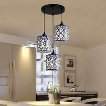 Современные подвесные светильники в скандинавском стиле, железная открытая люстра, Подвесная лампа, украшение для дома, для столовой, спальни, магазина, бара