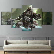 Home Decor Modular Canvas Picture 5 Piece WOW Warcraft DOTA 2 Classic Game Painting Poster Wall For Wholesale