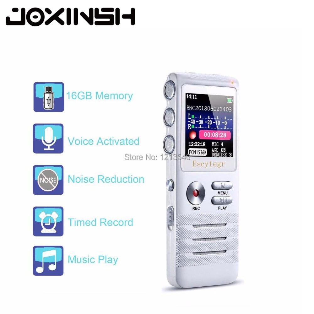 Enregistreur vocal numérique 8 go avec Double Microphone enregistrement HD boîtier métallique Premium micro et Dictaphone USB MP3 casque gratuit