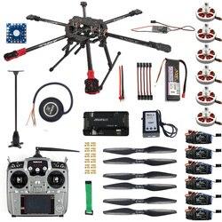 Full Set Hexacopter Drone Aircraft Kit Tarot FY690S Frame 750KV Motor GPS APM 2.8 Flight Control AT10Transmitter F07803-A
