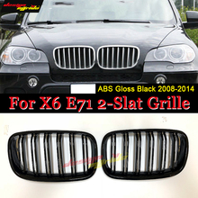 X6 E71 Grille m-style abs Gloss black Front Grilles Replacement X6M Bumper Grills SUV vehicle xDrive50 xDrive30d 08-14