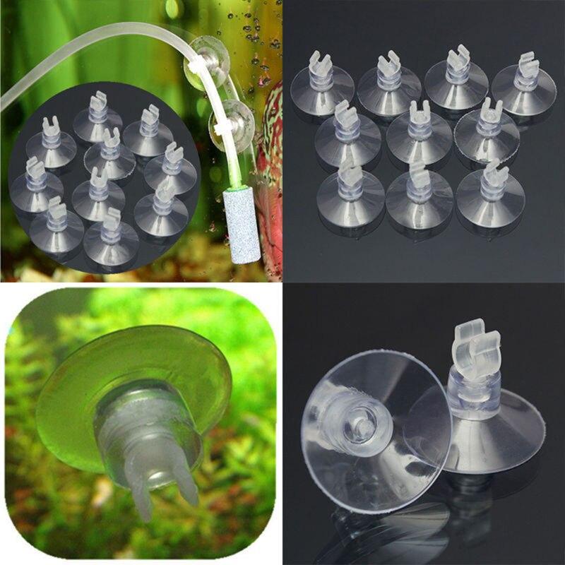 4Pcs Suction Cup Sucker Aquarium Fish Tank Tube Pipe Heater Tie Cable Holder