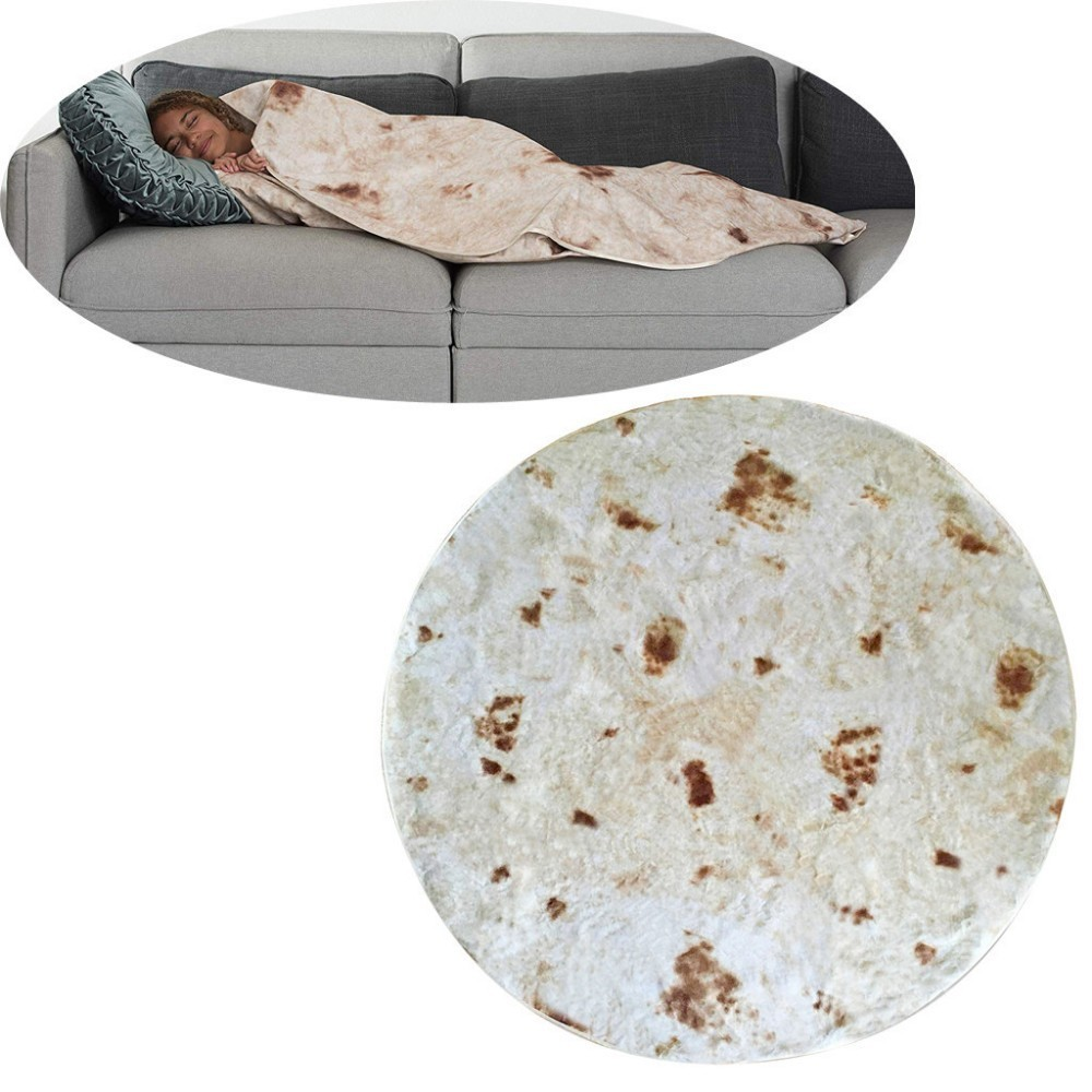 Replacement Batteries Buy Cheap 60x60cmtortilla Texture Soft Throw Blanket Carpet Family Car And Sofa Office Quilts Tortilla Bedding Winter Life Burrito Blanket Convenience Goods