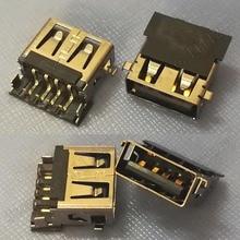 10 ชิ้น/ล็อต 2.0 USB สำหรับ Lenovo IdeaPad 110 15ACL 110 17IKB B50 50 Zhaoyang E42 80 E52 80 ThinkPad L440 พอร์ต USB
