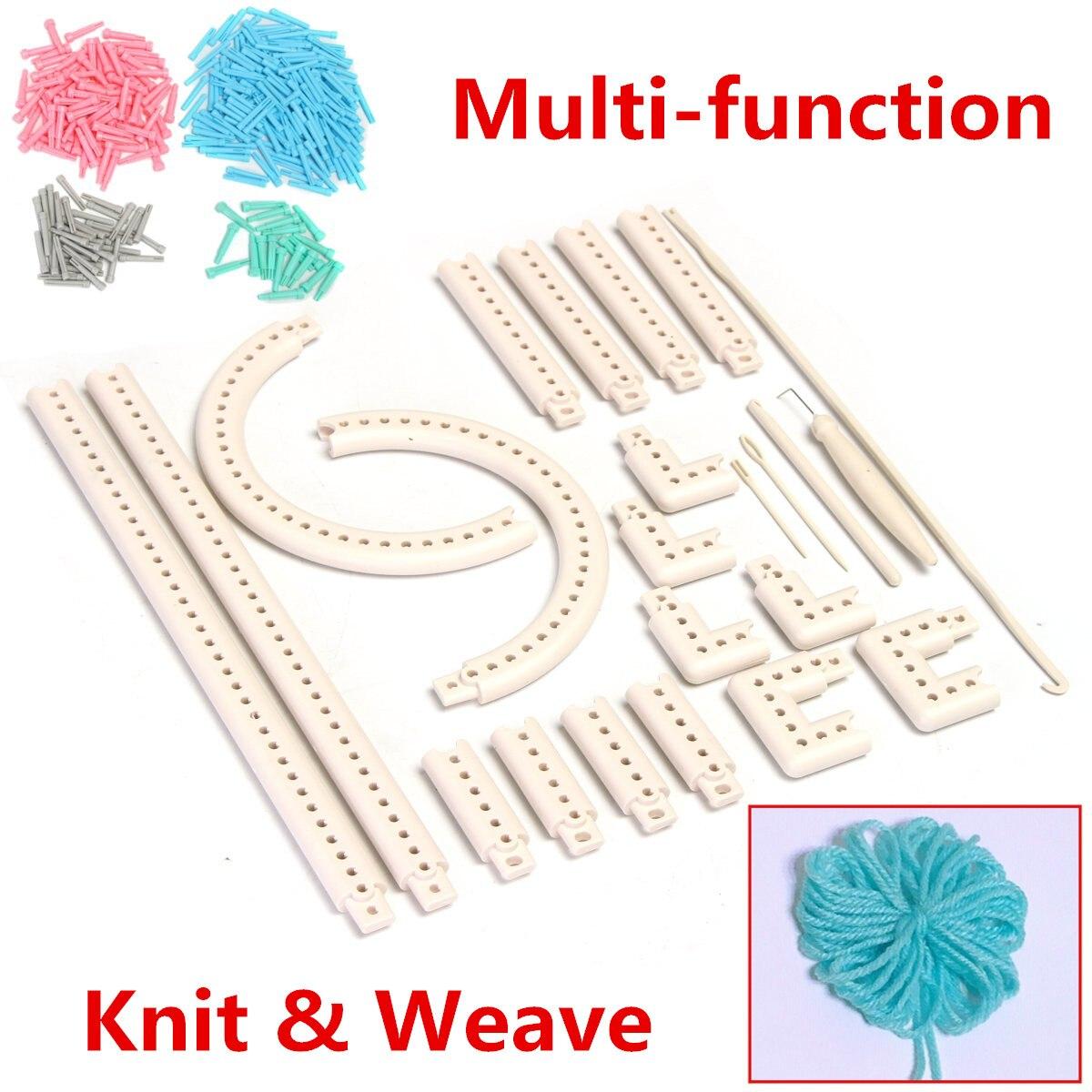 Multi-function Knitting Board Knit&Weave Loom Craft Yarn Kit DIY Scarf Sweater