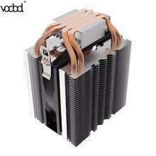 Enfriador de CPU 4 tubos de calor radiador silencioso 3pi disipador de calor para Intel LGA1150 1151 1155 775 1156 AMD ventilador de refrigeración para ordenadores de sobremesa nuevo