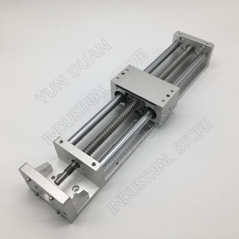 300MM Stroke CNC Linear module Cross Sliding Working Table XYZ Axis SFU1605 Ball screw C7 for NEMA23 Stepper Servo motor300MM Stroke CNC Linear module Cross Sliding Working Table XYZ Axis SFU1605 Ball screw C7 for NEMA23 Stepper Servo motor