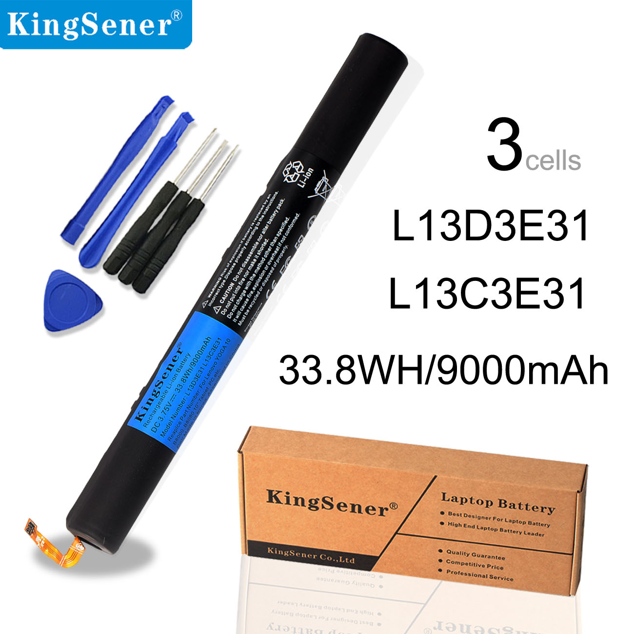 KingSener L13D3E31 <font><b>Tablet</b></font> <font><b>Batterie</b></font> für <font><b>LENOVO</b></font> <font><b>YOGA</b></font> <font><b>10</b></font>
